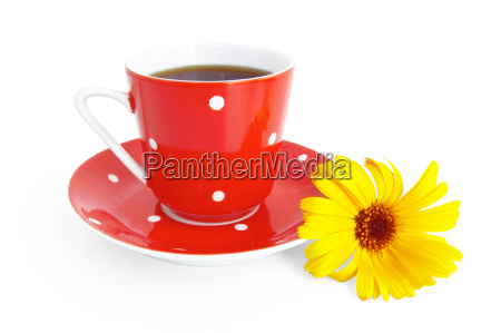 red, coffee, cup, with, a, yellow - 14064145