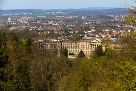 wilhelmshoehe castle with a view of