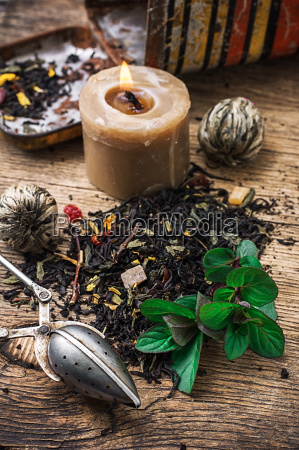 tea, brew, with, lime, and, mint - 14065287