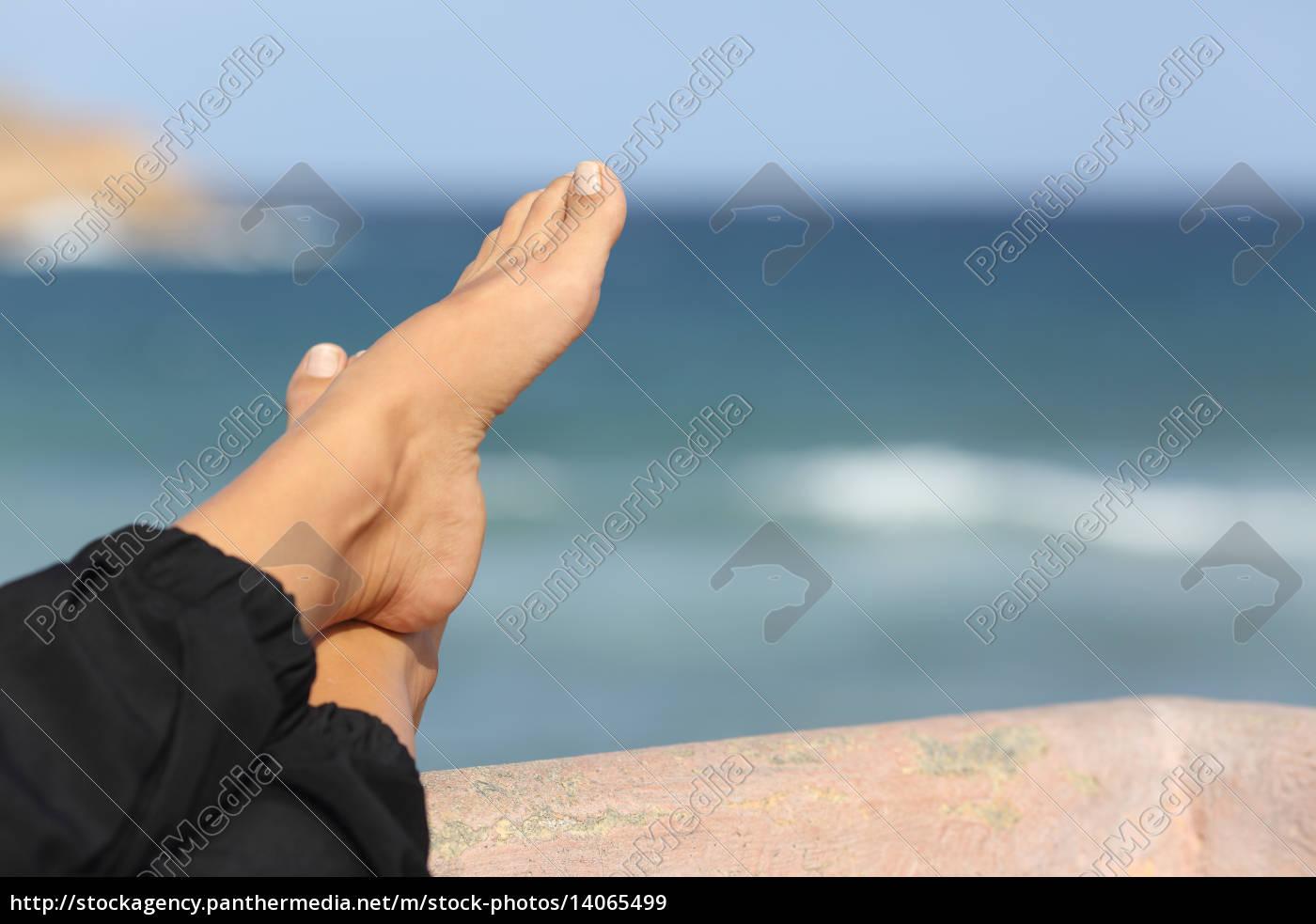 woman, feet, relaxing, on, an, hotel - 14065499