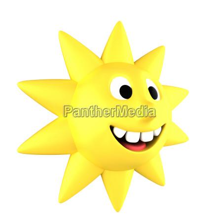 yellow sun smiling