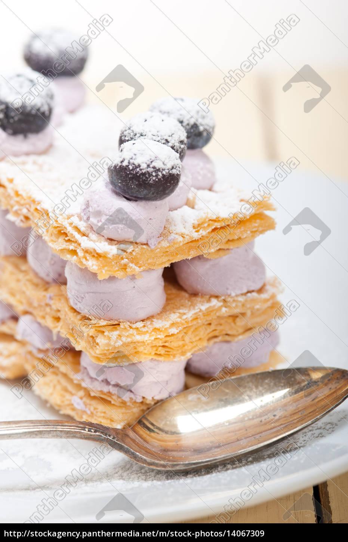 napoleon, blueberry, cake, dessert - 14067309