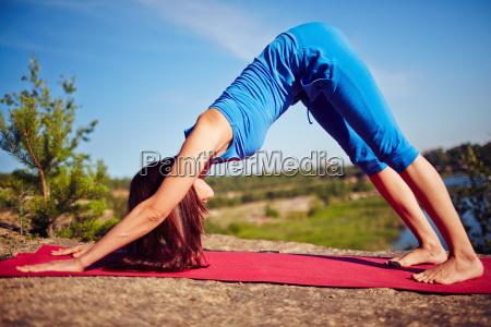 practicing, yoga - 14067729