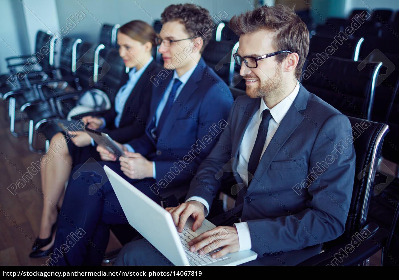 sitting, at, seminar - 14067819