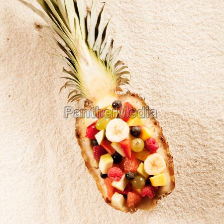 fresh exotic tropical fruit salad