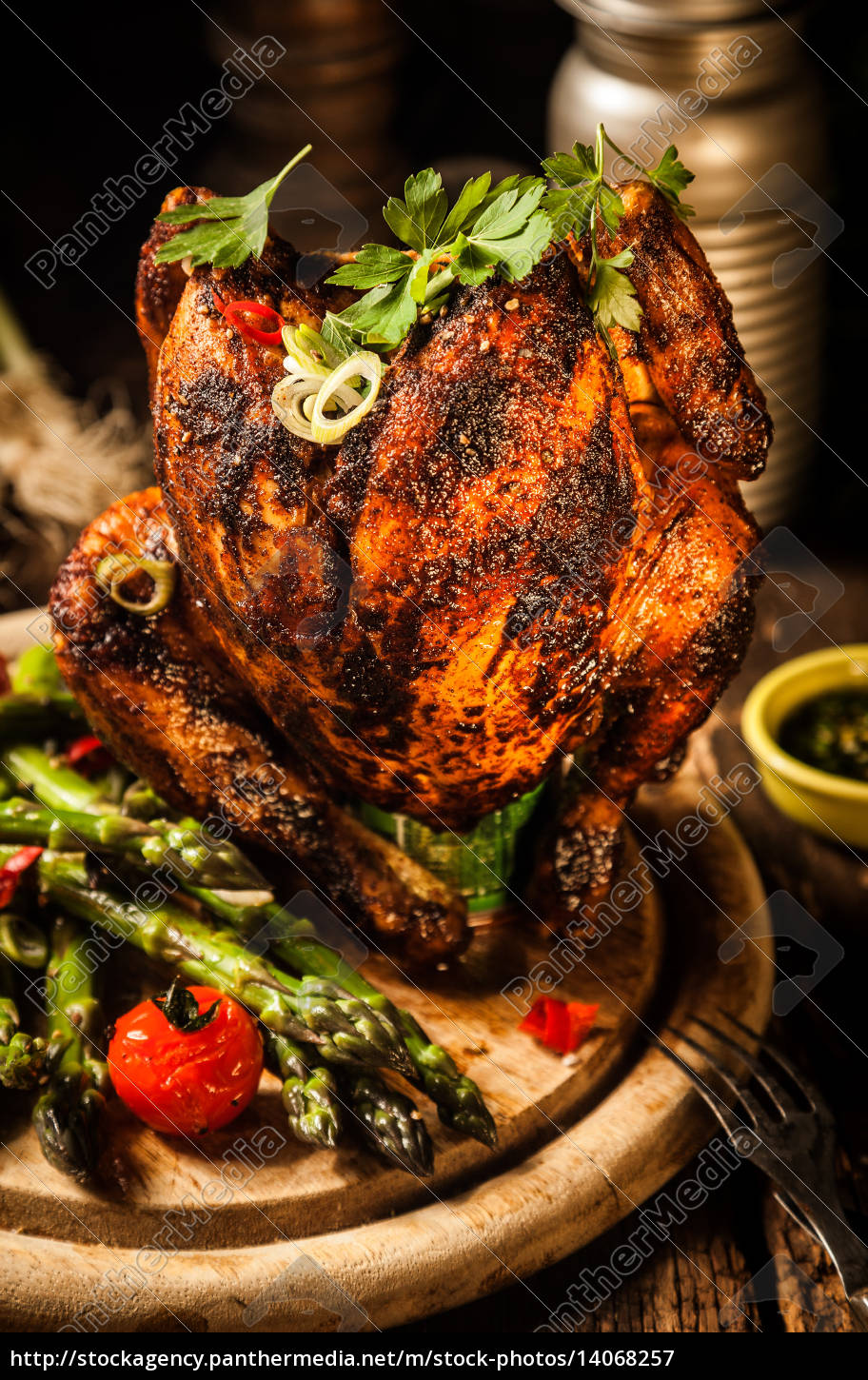 gourmet, tasty, grilled, beer, can, chicken - 14068257