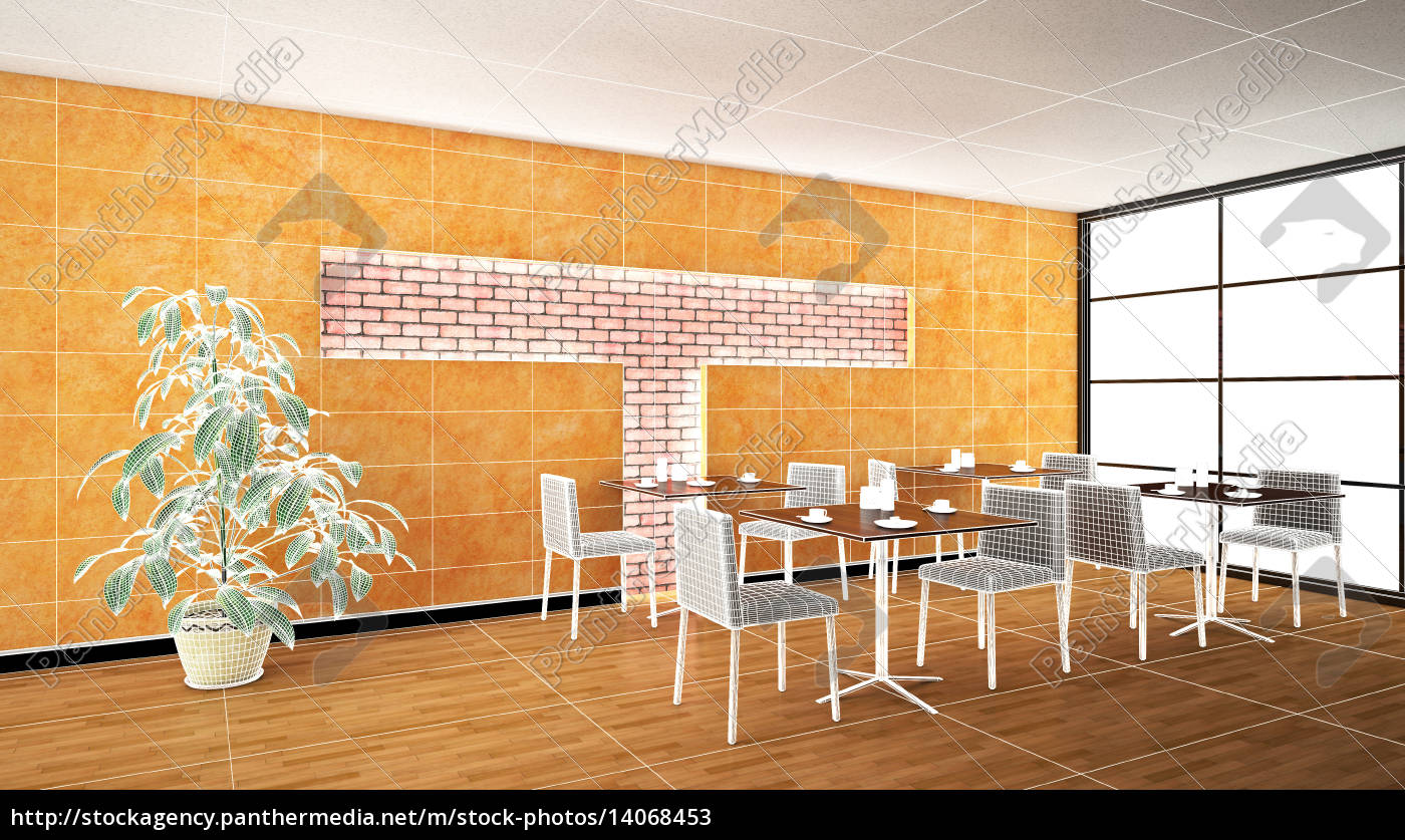 interior, rendering, of, a, bar, with - 14068453