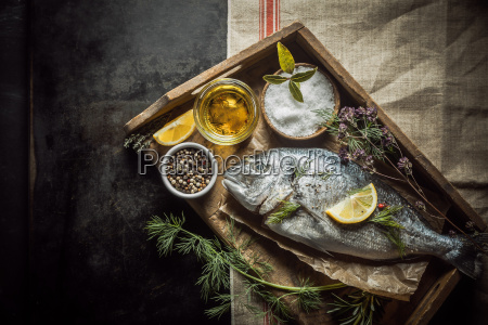 whole, fresh, fish, and, cooking, ingredients - 14068035