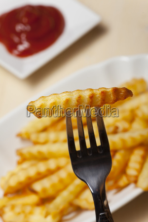 closeup of french fries