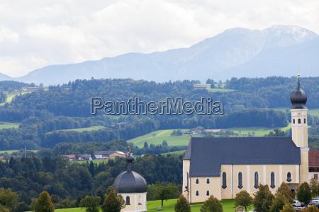 bavarian church on irschenberg