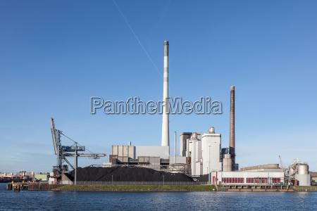 modern coal power station
