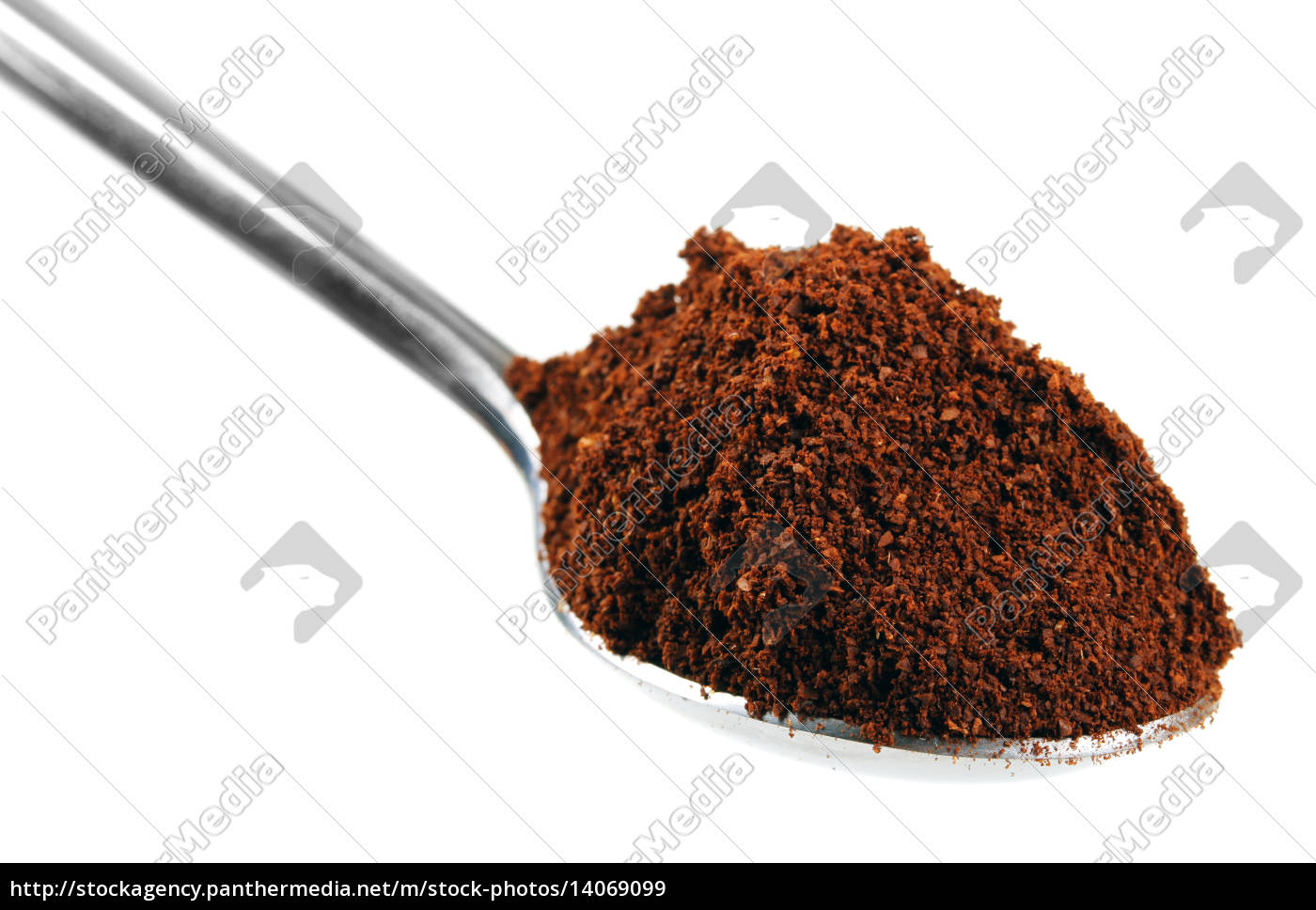 spoon, full, with, coffee, isolated, on - 14069099