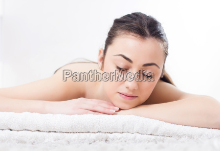 beauty young woman relax skincare spa