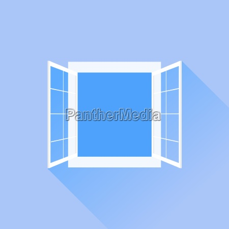 open white window isolated on