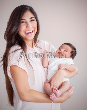 happy, mother, with, baby - 14070787