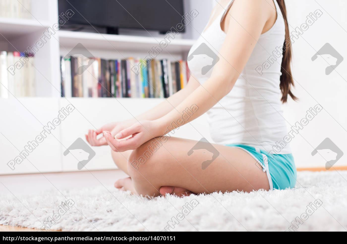 yoga, woman, meditating, relaxing, healthy, lifestyle - 14070151