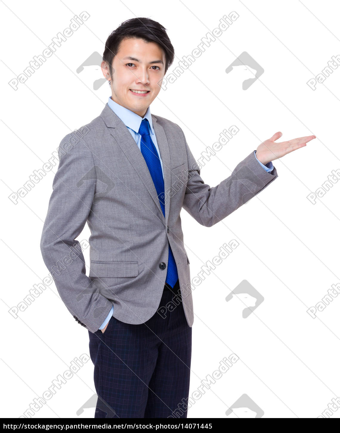asian, business, man, standing, with, open - 14071445