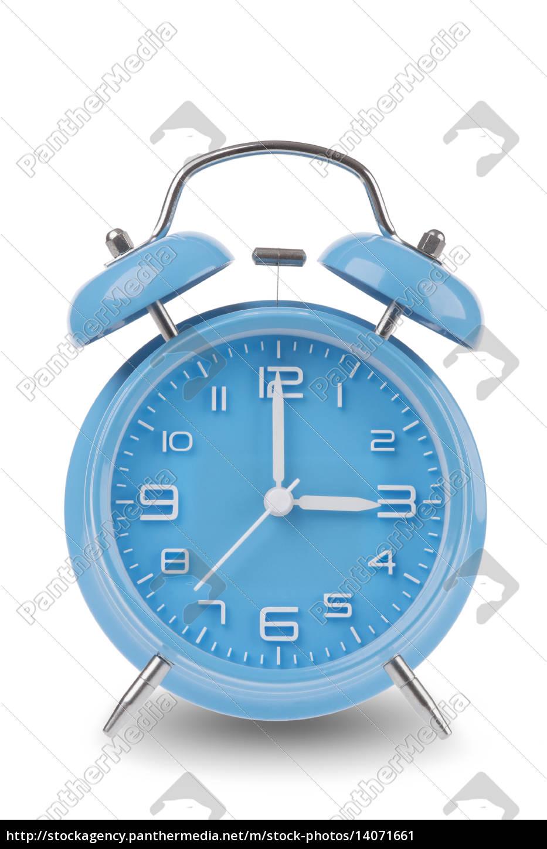 blue, alarm, clock, isolated, on, white - 14071661