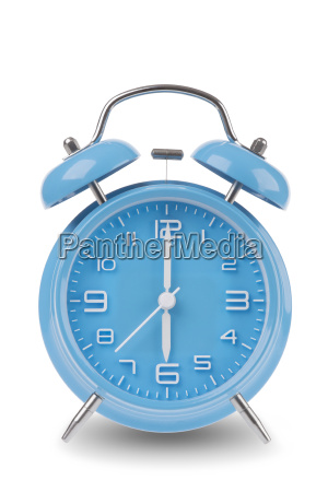 blue, alarm, clock, isolated, on, white - 14071667