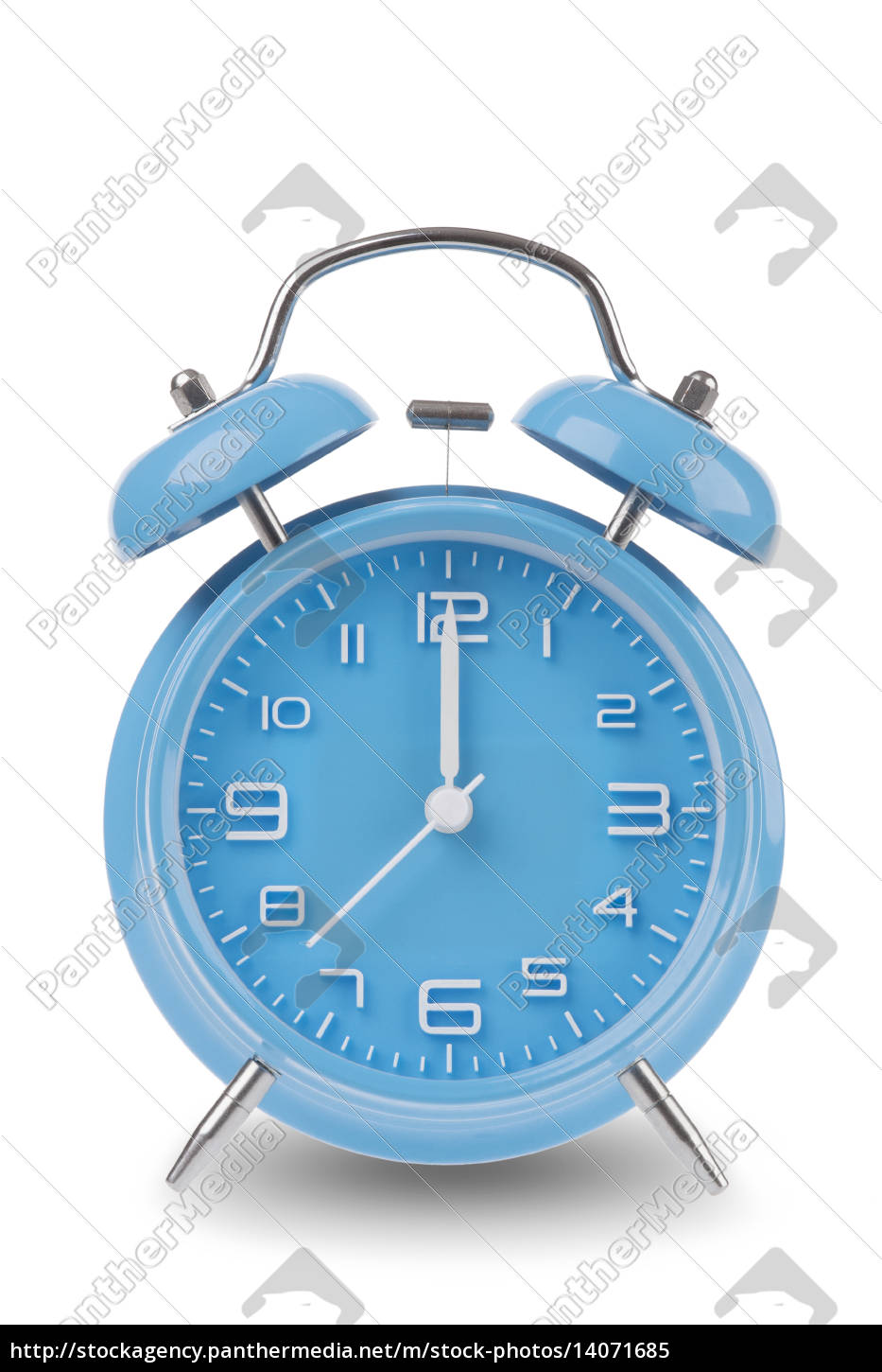 blue, alarm, clock, isolated, on, white - 14071685