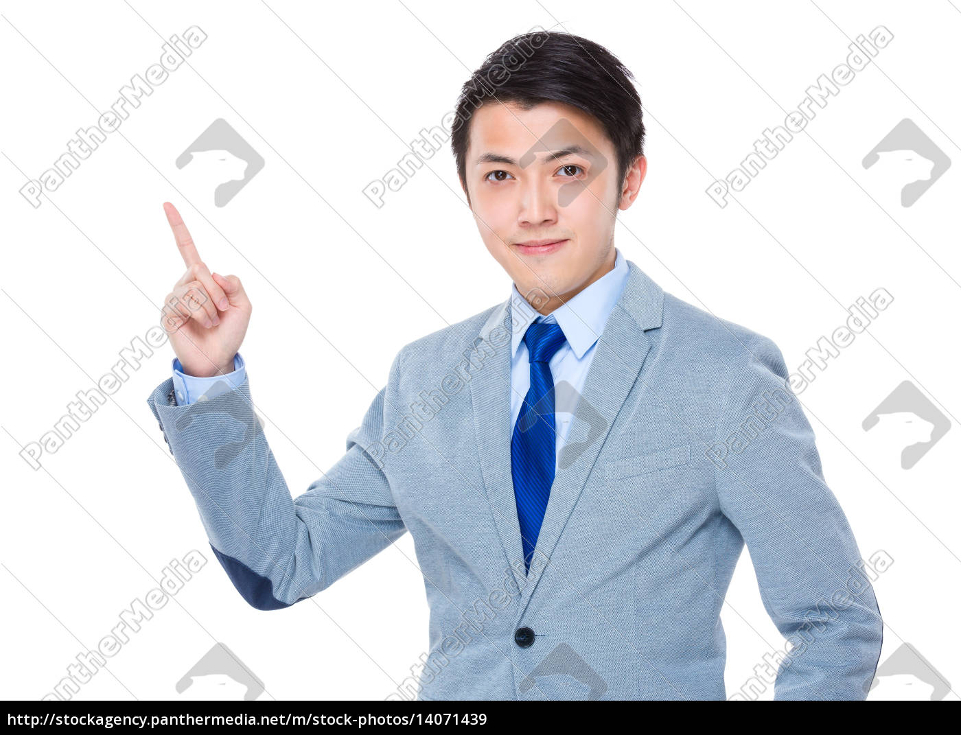 business, man, with, finger, point, up - 14071439