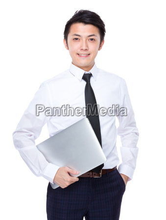 businessman, carry, with, laptop - 14071387
