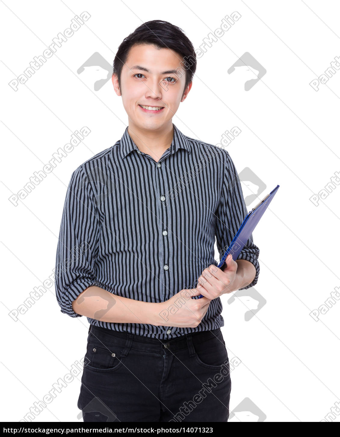 businessman, with, clipboard - 14071323