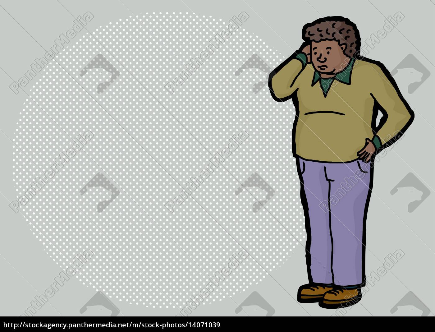 confused, man, cartoon - 14071039