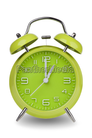 green, alarm, clock, with, hands, at - 14071619