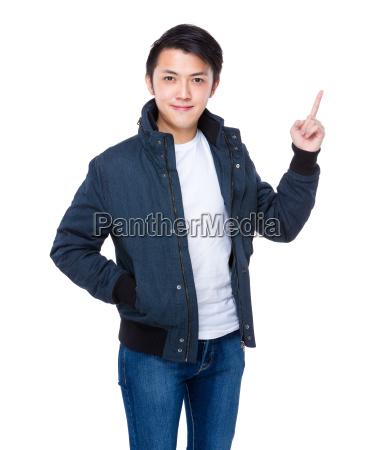 man, finger, up - 14071307