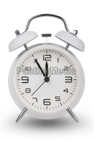 white, alarm, clock, with, hands, at - 14071715