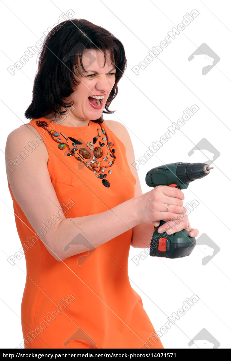 woman, with, screwdriver - 14071571