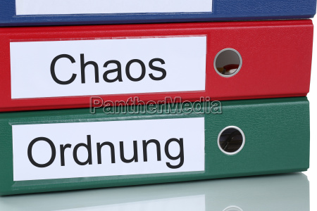 chaos and order at work in