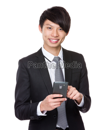 businessman, use, mobile, phone - 14073677