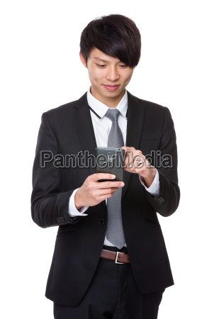 businessman, use, of, mobile, phone - 14073665