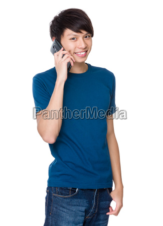 man, talk, to, phone - 14073993
