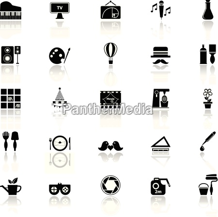 art, activity, icons, with, reflect, on - 14074547