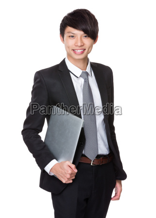 businessman, with, laptop - 14074011