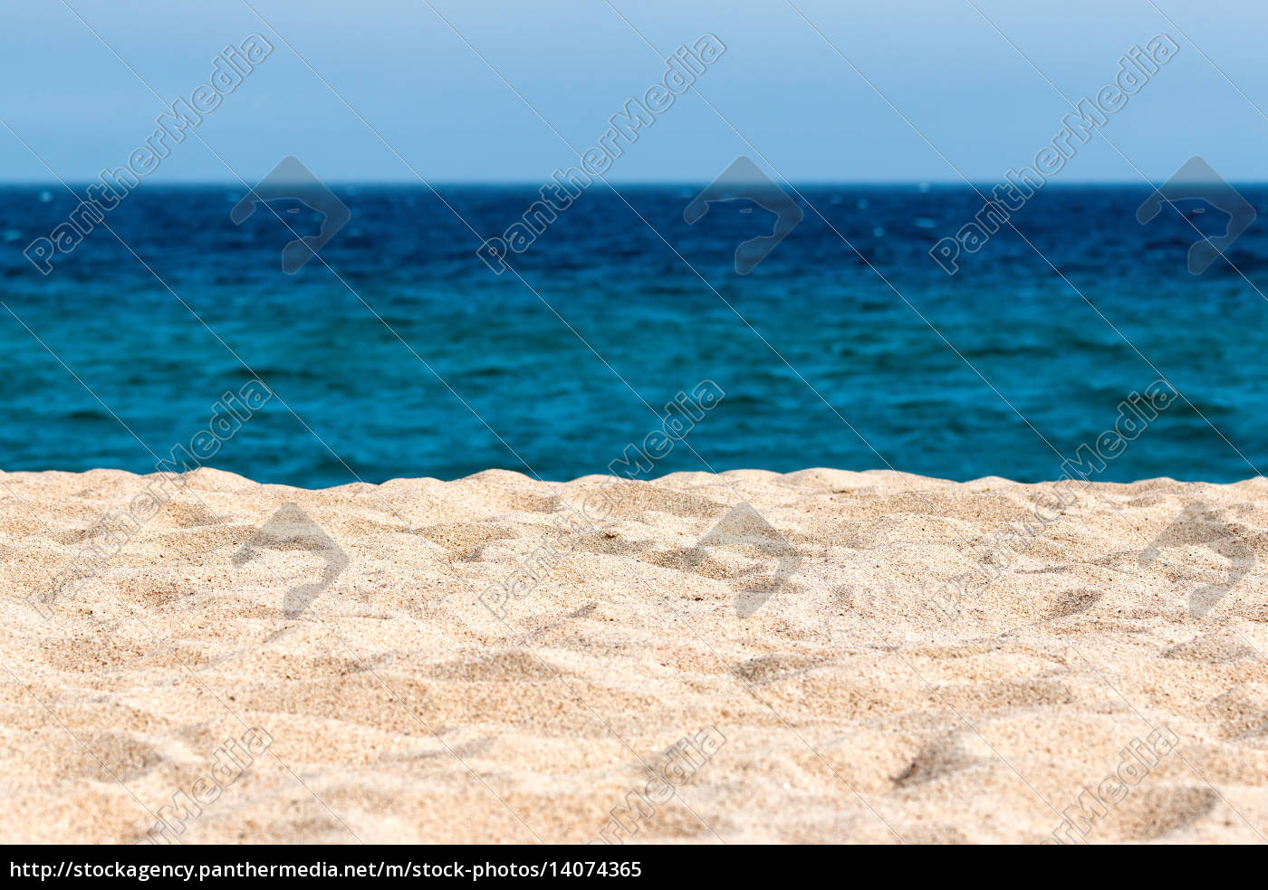 idyllic, sand, beach, background. - 14074365
