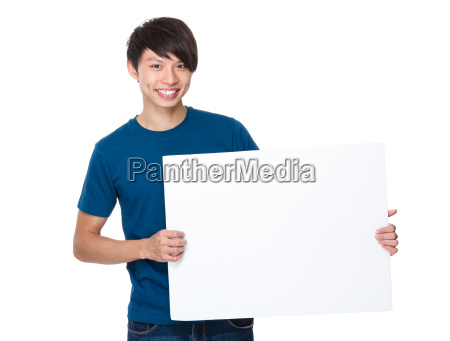 man, hold, with, white, board - 14074147