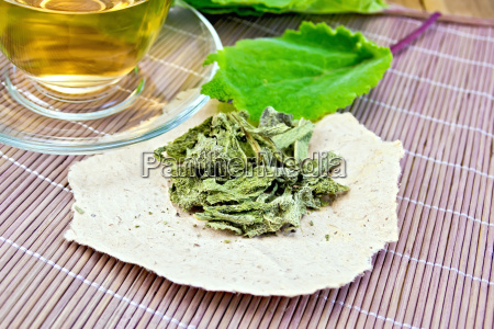 sage, dried, on, paper, with, cup - 14074923