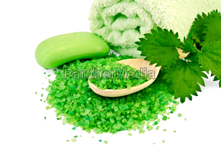 salt, and, soap, green, with, nettle - 14074955