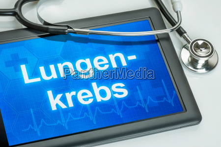 tablet with the diagnosis of lung