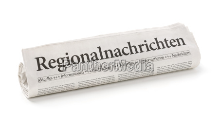 newspaper, roll, with, the, heading, regional - 14075621