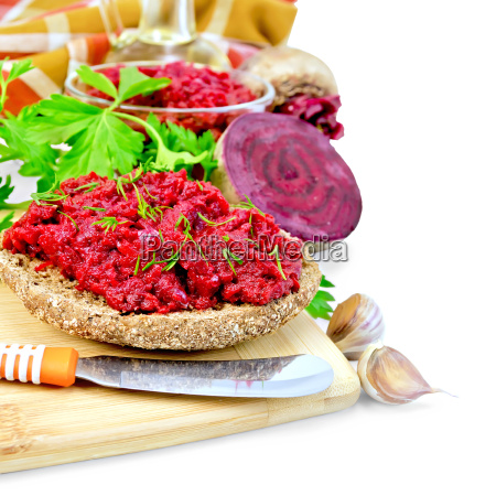 sandwich, with, beet, caviar, and, spices - 14075007