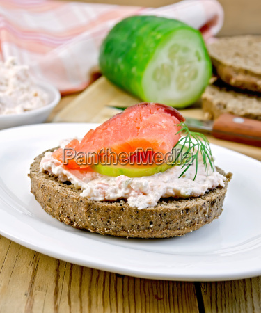 sandwich, with, cream, and, salmon, with - 14075051