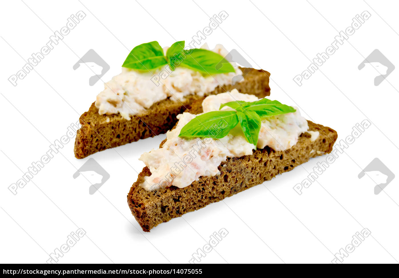 sandwich, with, cream, from, salmon, and - 14075055