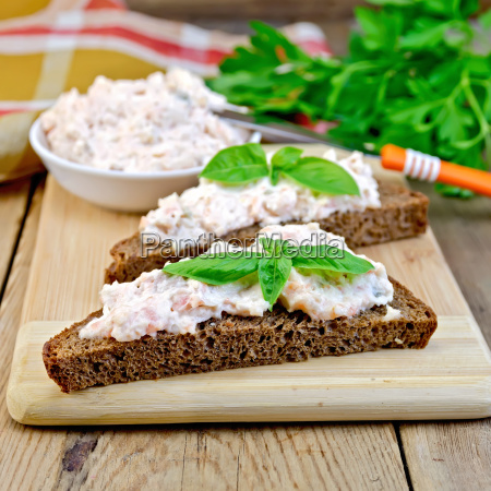 sandwich, with, cream, of, salmon, and - 14075057