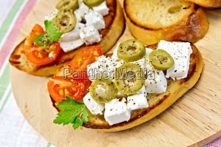 sandwich, with, feta, and, olives, on - 14075065