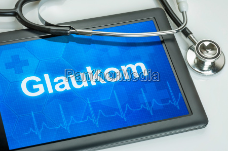 tablet, diagnosed, with, glaucoma, in, the - 14075583